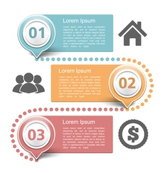 Design Template with Three Steps vector image vector image