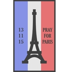 Pray for Paris words card vector image vector image