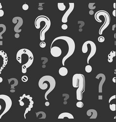 question marks pattern vector image vector image