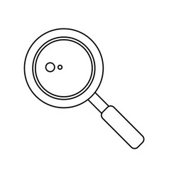search loupe school thin line vector image