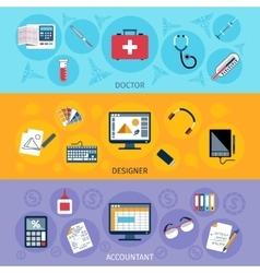 Workspace Banner Set vector image