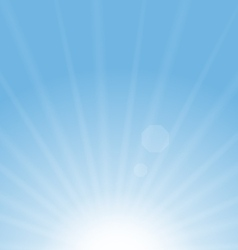 Abstract blue background sun vector