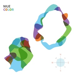 Abstract color map of Niue vector