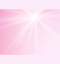 abstract rays pink background with light dots vector image