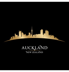 Auckland New Zealand city skyline silhouette vector image