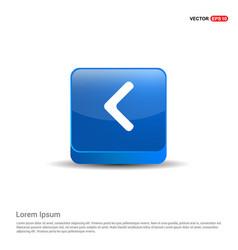 back icon - 3d blue button vector image