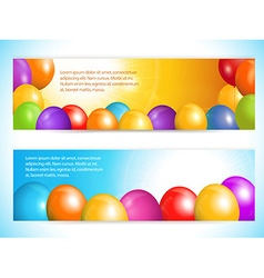 balloon banners and sky vector image vector image