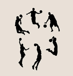 Basketball player collection vector