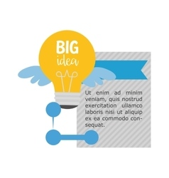 Big idea infographic design vector