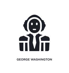 Black george washington isolated icon simple vector