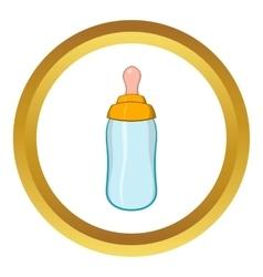 Bottle feeding icon cartoon style vector image