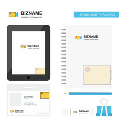 camcoder business logo tab app diary pvc employee vector image