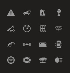 car - flat icons vector image