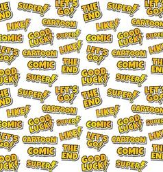 cartoon comic text sticker background vector image