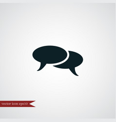 Chat icon simple vector