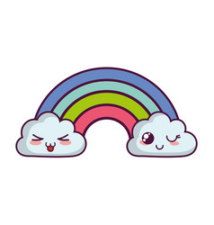 cloud and rainbow icon vector image
