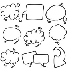 Collection stock of text bubble style vector