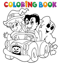 Coloring book halloween character 8 vector