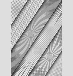 comic monochrome diagonal banners vector image
