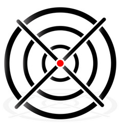 Cross hair target mark circular reticle vector