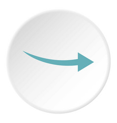 Curve arrow icon circle vector