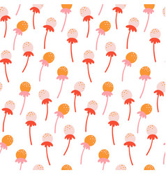 cute seamless floral pattern with hand drawn vector image