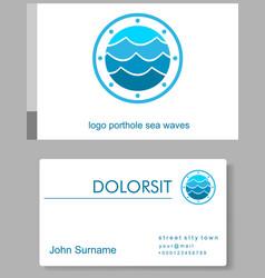 Emblem porthole and waves vector