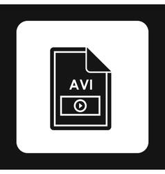File AVI icon simple style vector
