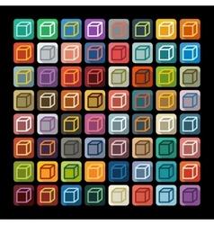 Flat design cube vector