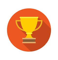 Flat Golden Trophy Cup Leadership concept icon vector image