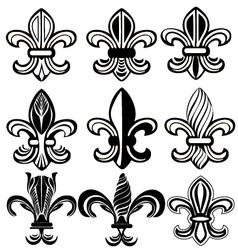 Fleur De Lis New Orleans symbol vector