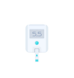 Glucose meter isolated on white vector