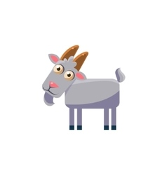 goat Simplified Cute vector image