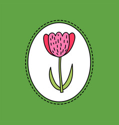 hand drawn of tulip flower vector image