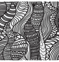 Hand drawn seamless pattern vector image