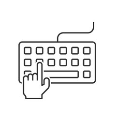 hand typing on keyboard vector image