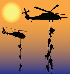 Helicopter landing-1 vector