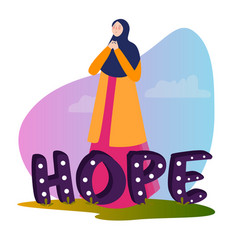 Hope typography motivational positive slogan with vector