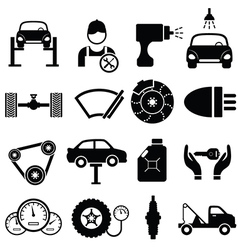 Icons of cars vector