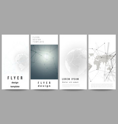 layout of flyer banner design templates vector image