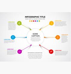 Multipurpose infographic template vector