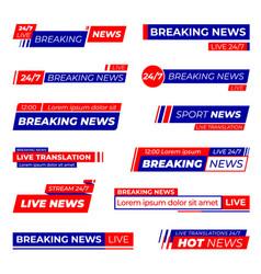 news bars title bar strips sport website banner vector image
