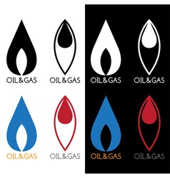 Oil and gas industry icons vector