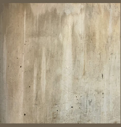 Old plain grungy concrete wall texture vector