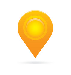 orange map pointer icon marker GPS location flag vector image