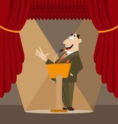 Orator made a speech vector
