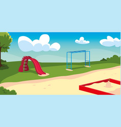 Outdoor playground with games for children vector
