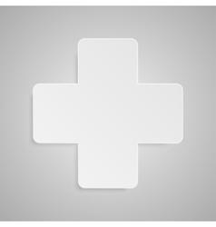 Paper Banner Design Mockup Cross vector