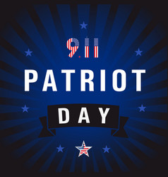patriot day usa star blue stripes vector image