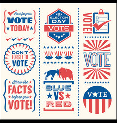 Patriotic design elements for voting vector